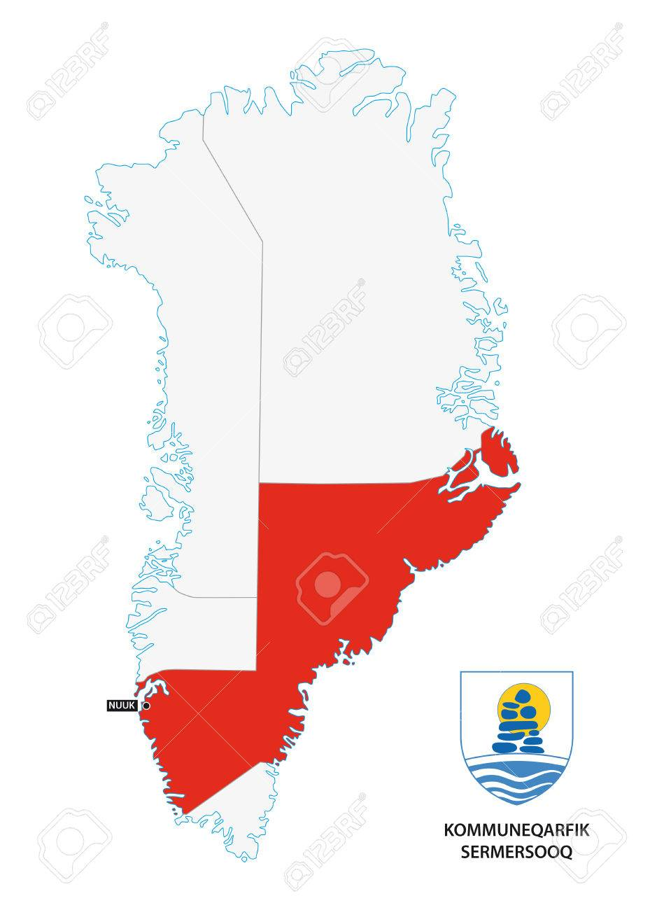 Administrative Map Of Greenland Sermersooq Municipality With