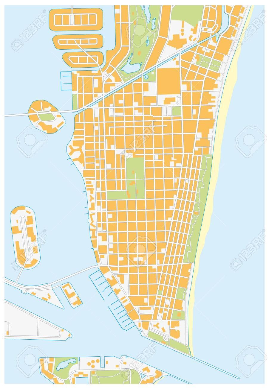Karte Florida Miami.Stock Photo