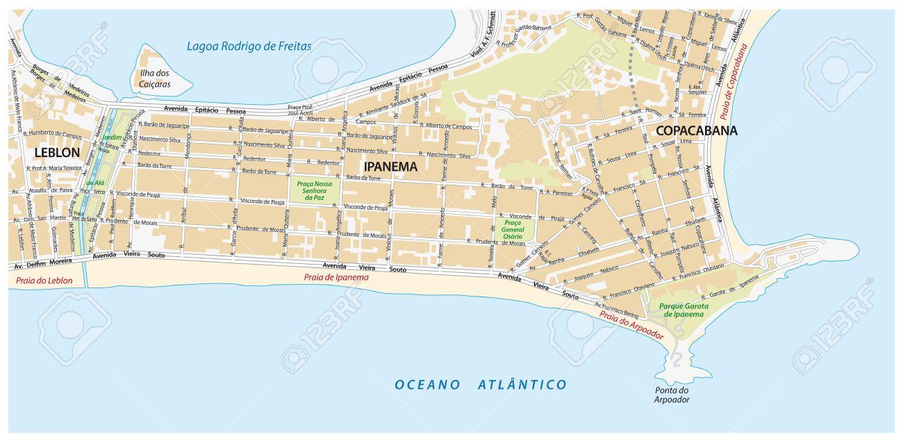Strassenkarte Mit Namen Der Stadtteil Ipanema In Rio De Janeiro Lizenzfrei Nutzbare Vektorgrafiken Clip Arts Illustrationen Image 62264892