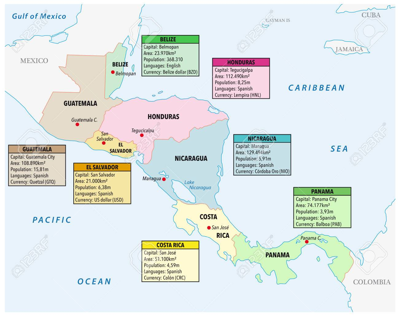 Central America Map Quiz Spelling Wall HD - Us and central america map