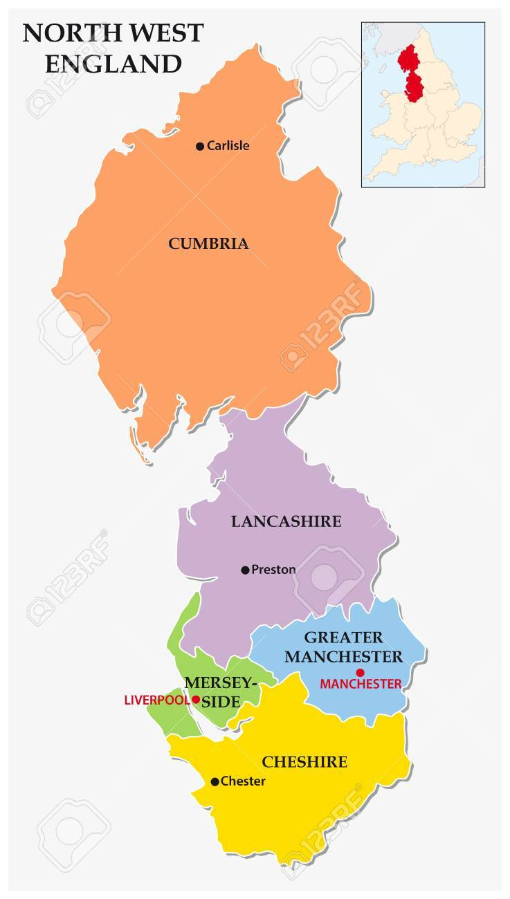 North west england administrative and political map royalty free north west england administrative and political map stock vector 67648038 gumiabroncs Choice Image