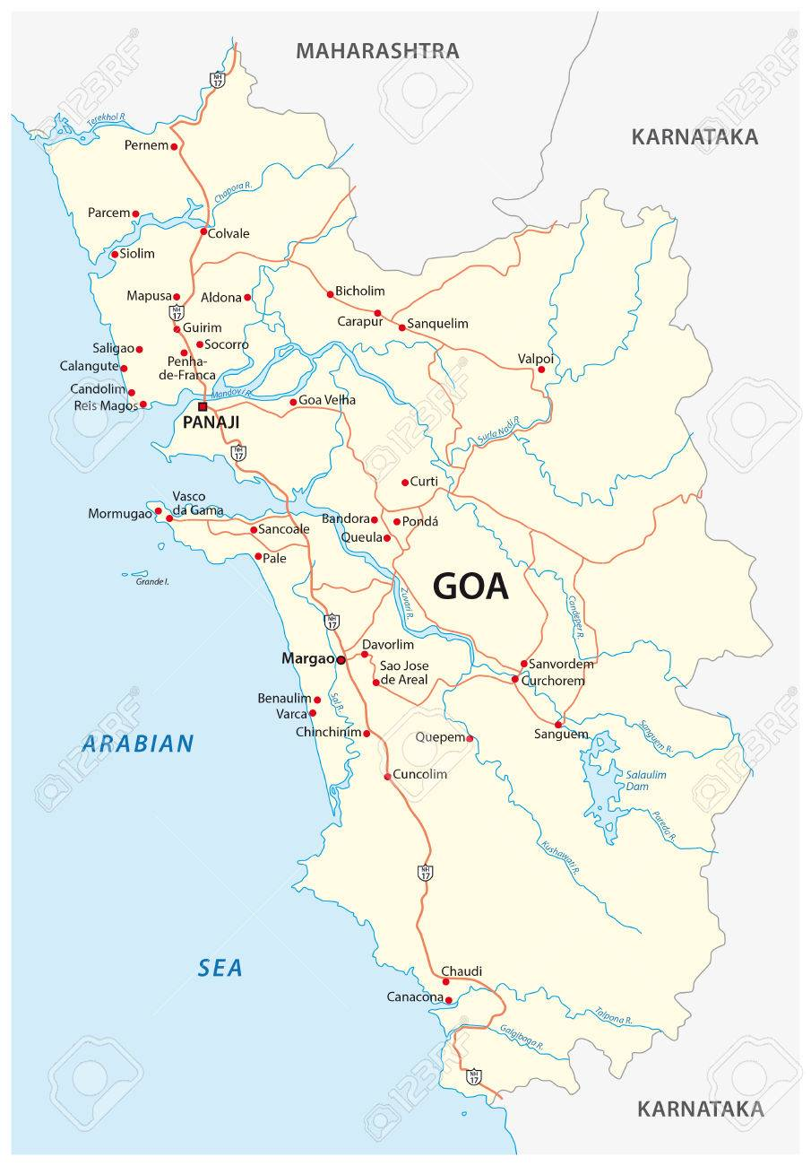 Vector road map of the Indian state of Goa on great britain map, u.s. regions map, arunachal pradesh, french regions map, tamil nadu map, state capitals map, tonga map, iran map, uttar pradesh, indian states and capitals, brazil map, european nations map, new delhi, tamil nadu, cyber world map, india map, indiana county map, jammu and kashmir, maharashtra map, himachal pradesh, bangladesh map, cape of good hope map, andhra pradesh map, indiana state map, andaman and nicobar islands, illinois-indiana map, saudi arabia map, andhra pradesh,
