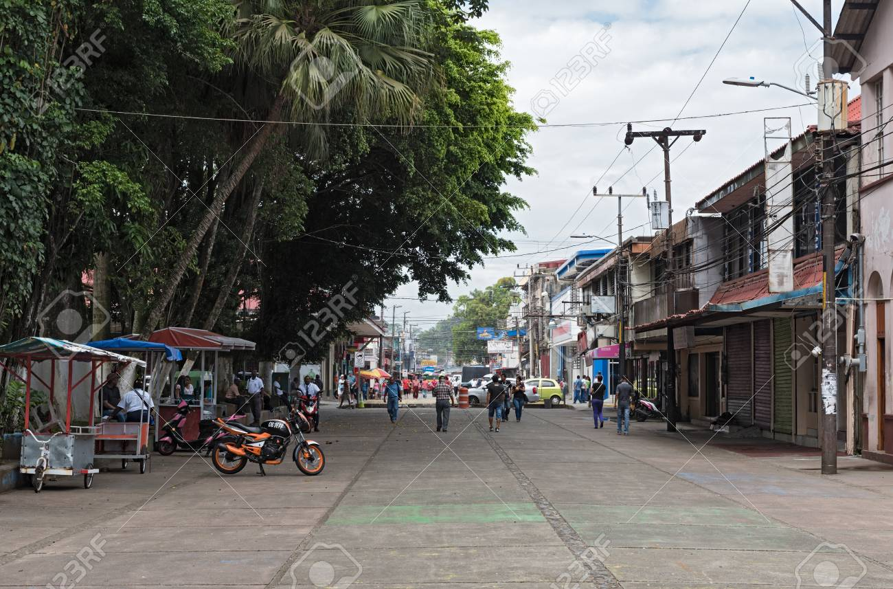 Pedestrian Zone At The Vargas Park In Puerto Limon Costa Rica Stock Photo Picture And Royalty Free Image Image 78724565