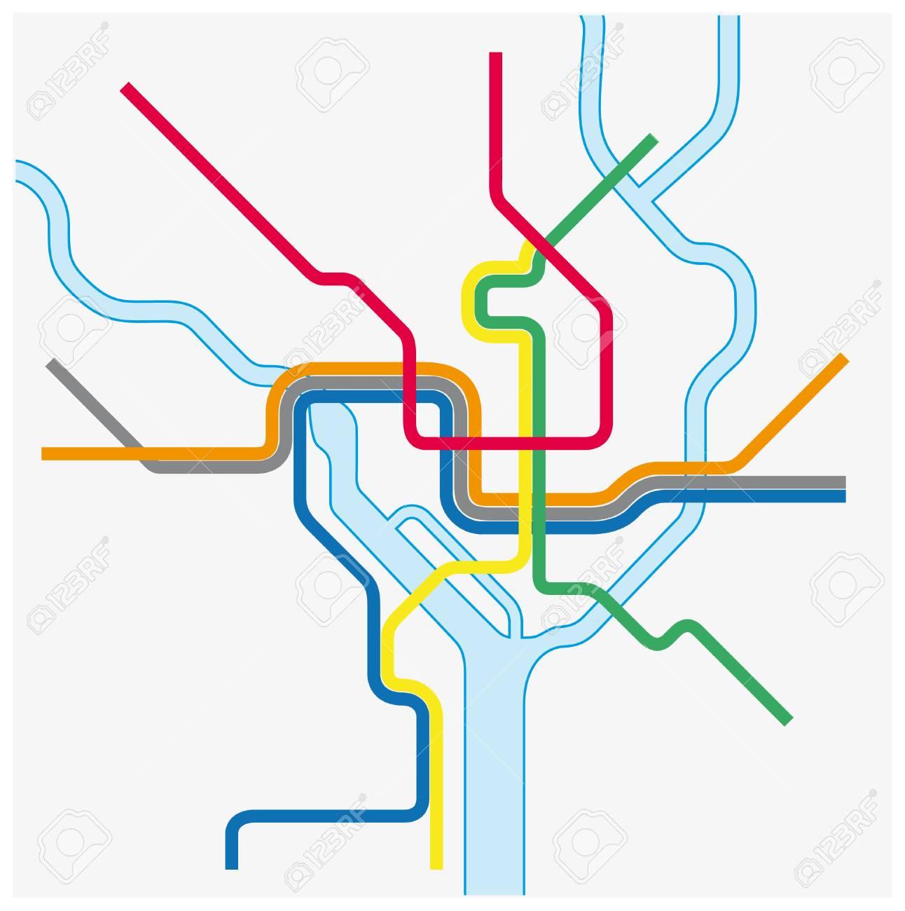 Washington Dcdc Subway Map.Dc Map Metro Classycloud Co