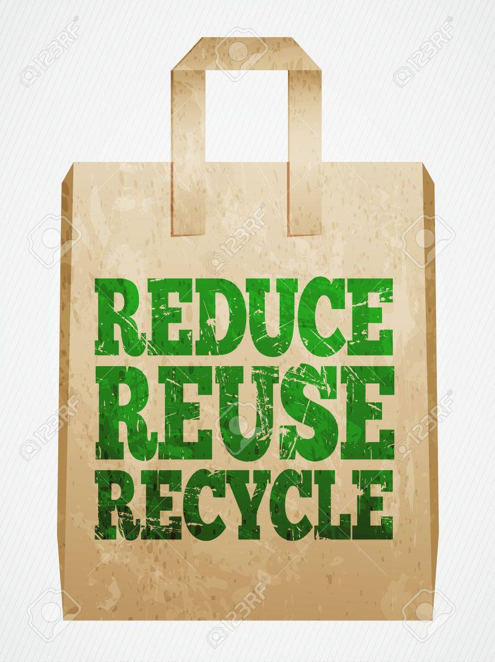Paper bag vector - Reduce Reuse Recycle Paper Bag Vector Illustration Stock Vector 36952853