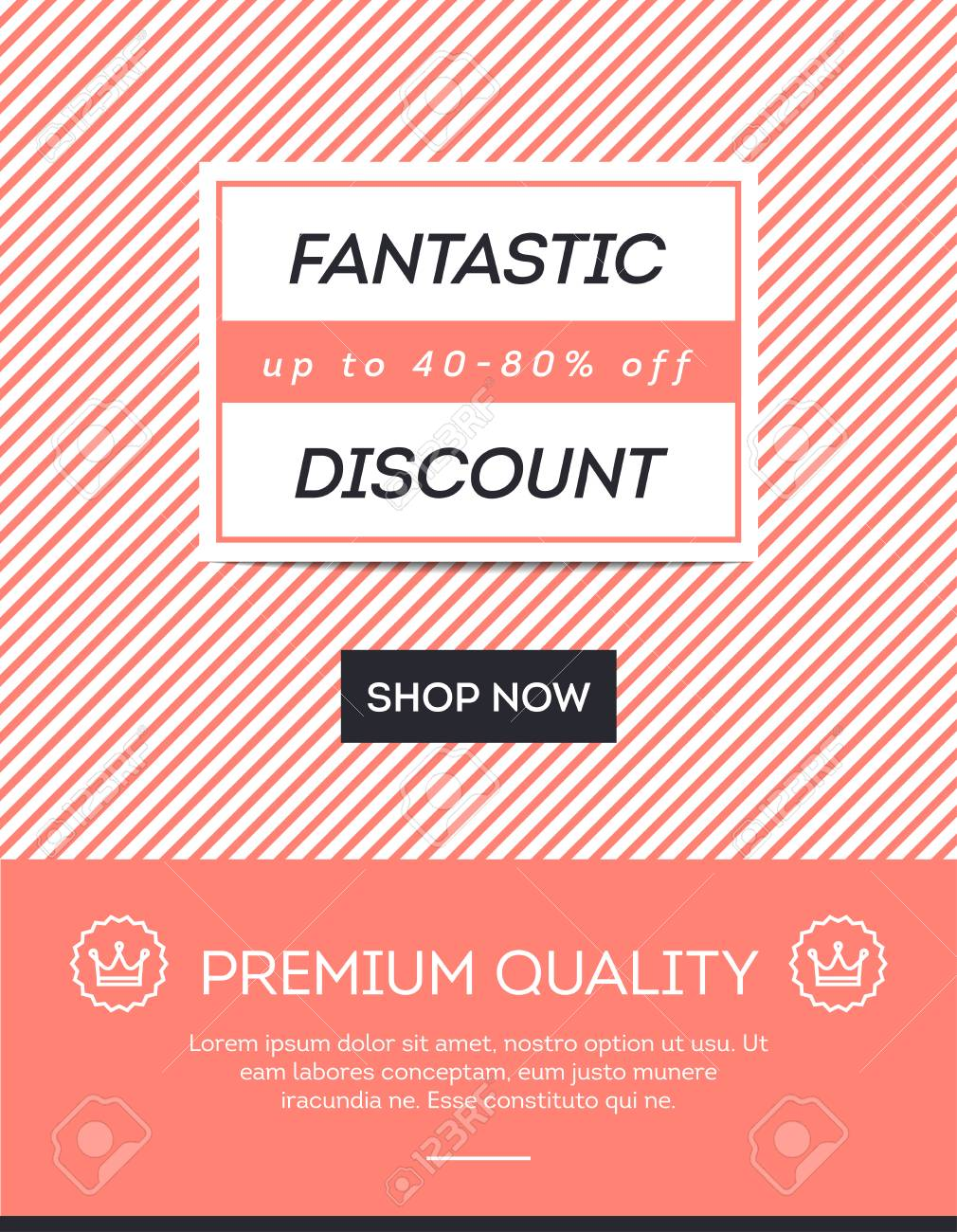 sale discount online shopping banner newsletter template