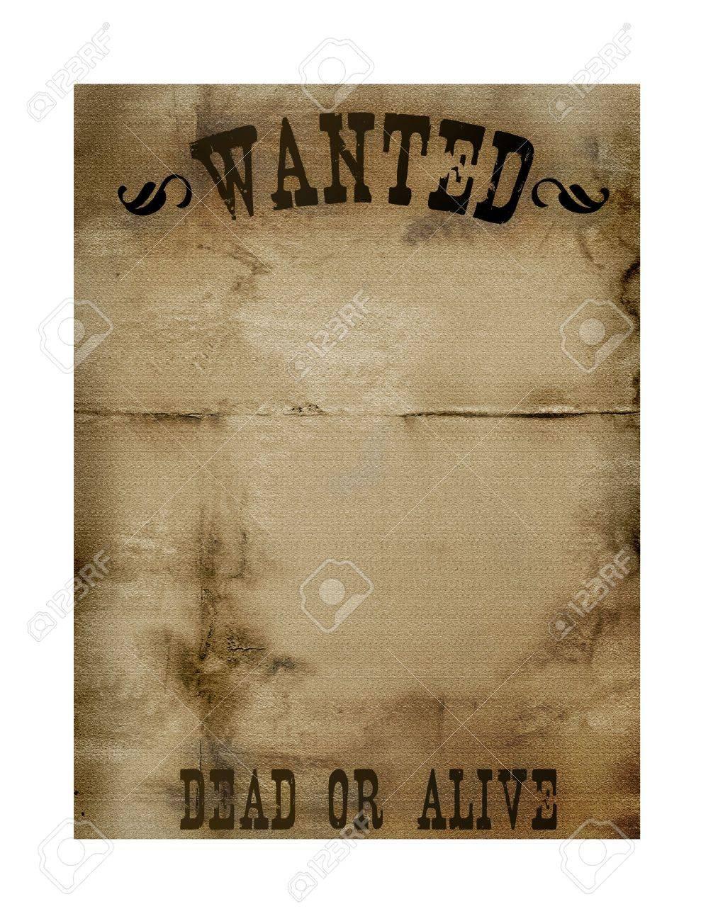 Bounry Hunter Notice Paper Stock Photo - 2801786