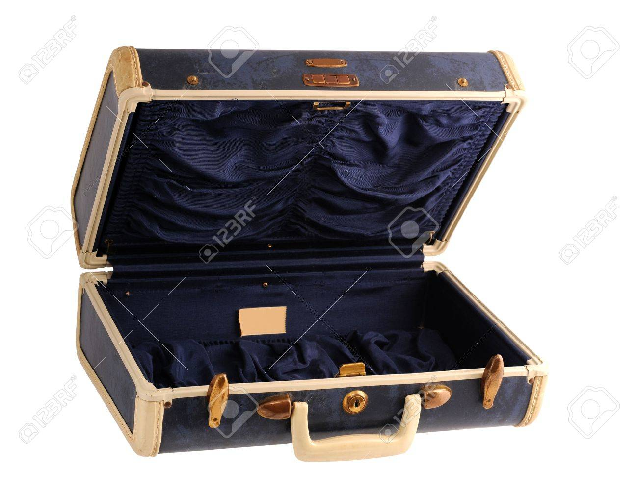 Blue Vintage Suitcase Stock Photo, Picture And Royalty Free Image ...