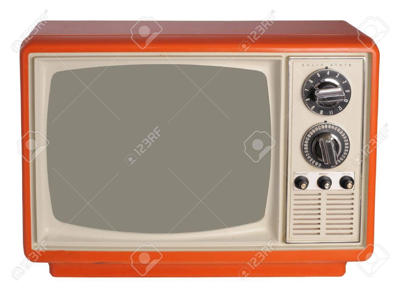 Vintage TV set Stock Photo - 16515098