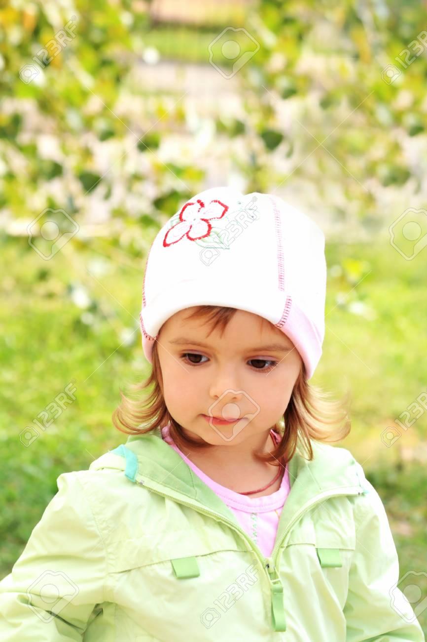 Portrait of the little lovely girl Stock Photo - 16691244