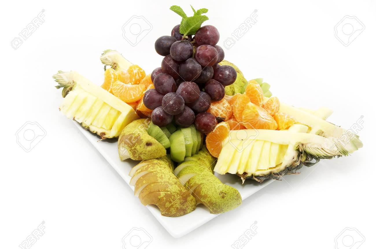 plate of sliced fruit Stock Photo - 12362999