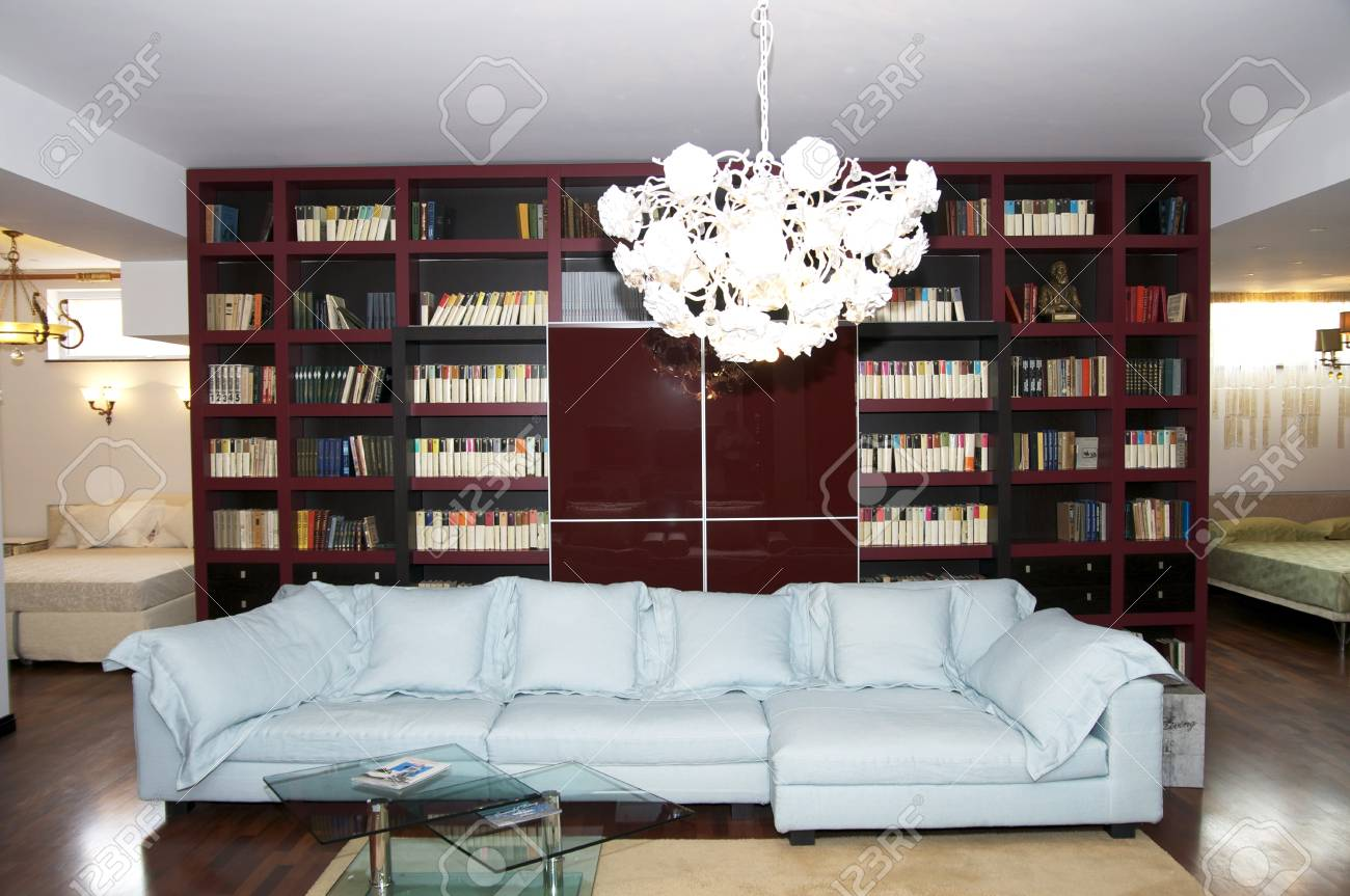 a large comfortable living room with lots of lights Stock Photo - 17654155