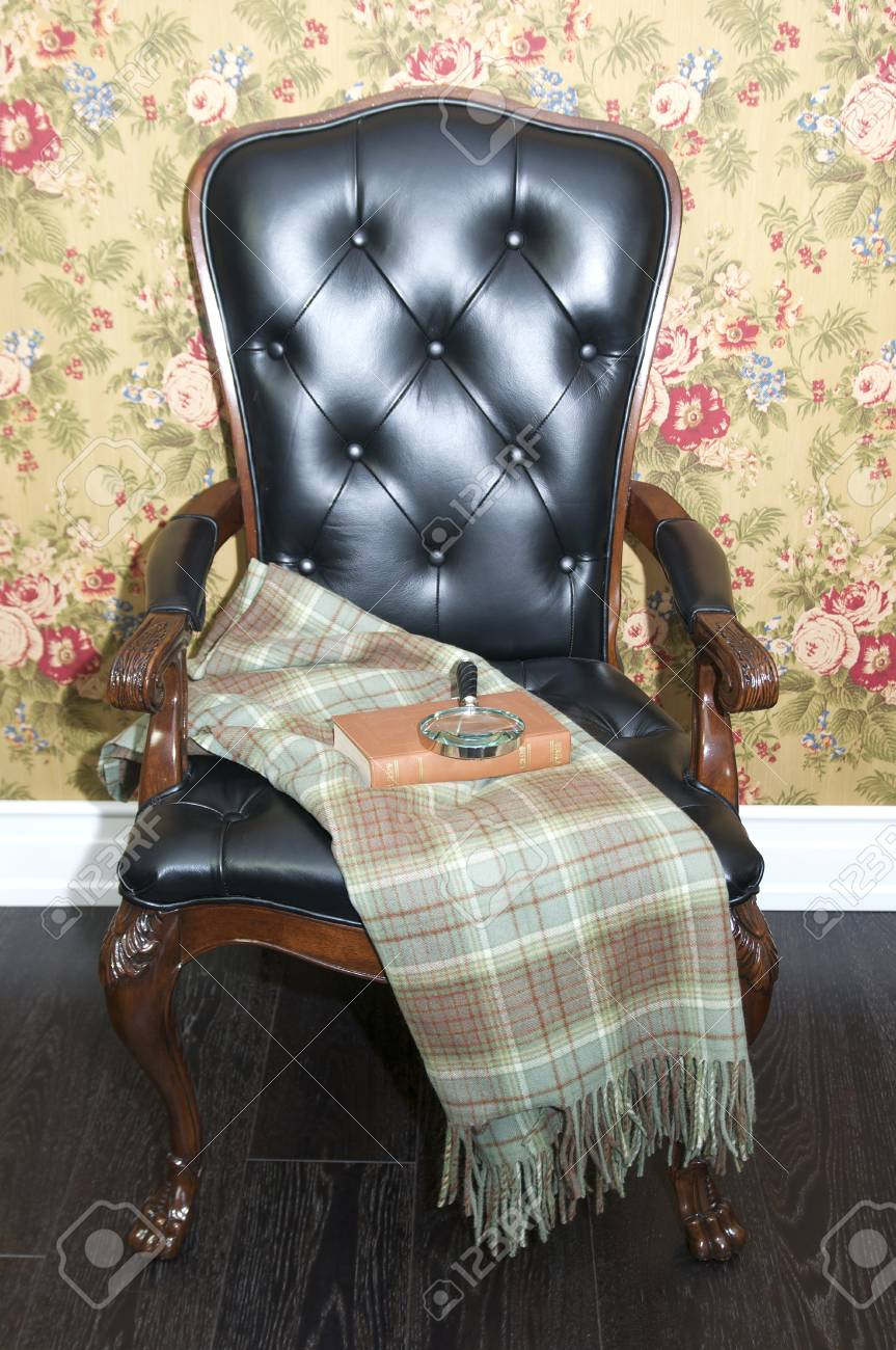 comfortable upholstered chair Stock Photo - 17654159
