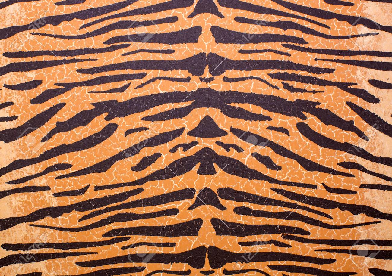 Texture Of Tiger Skin Print Wallpaper Wild Stock Photo Picture And
