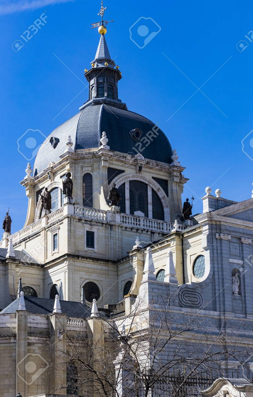 Elements of the architecture of Spain's capital city of Madrid. - 104404787