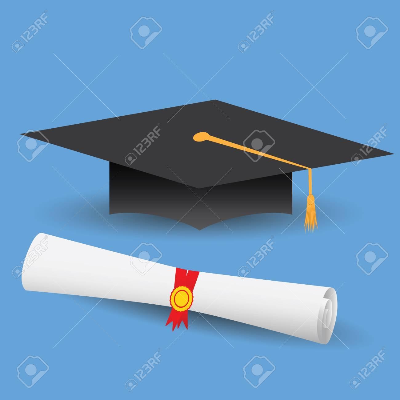Diseño plano moderna ilustración de tapa de graduación y diploma. Foto de  archivo - 66092107 bed2adc9849