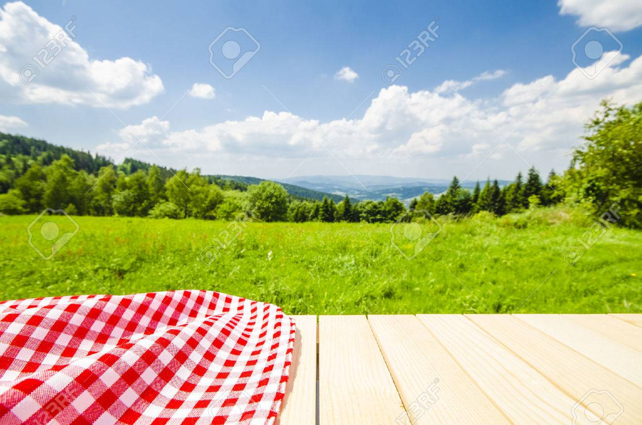 Background image nature - Nature Background Empty Table With Landscape Background Stock Photo