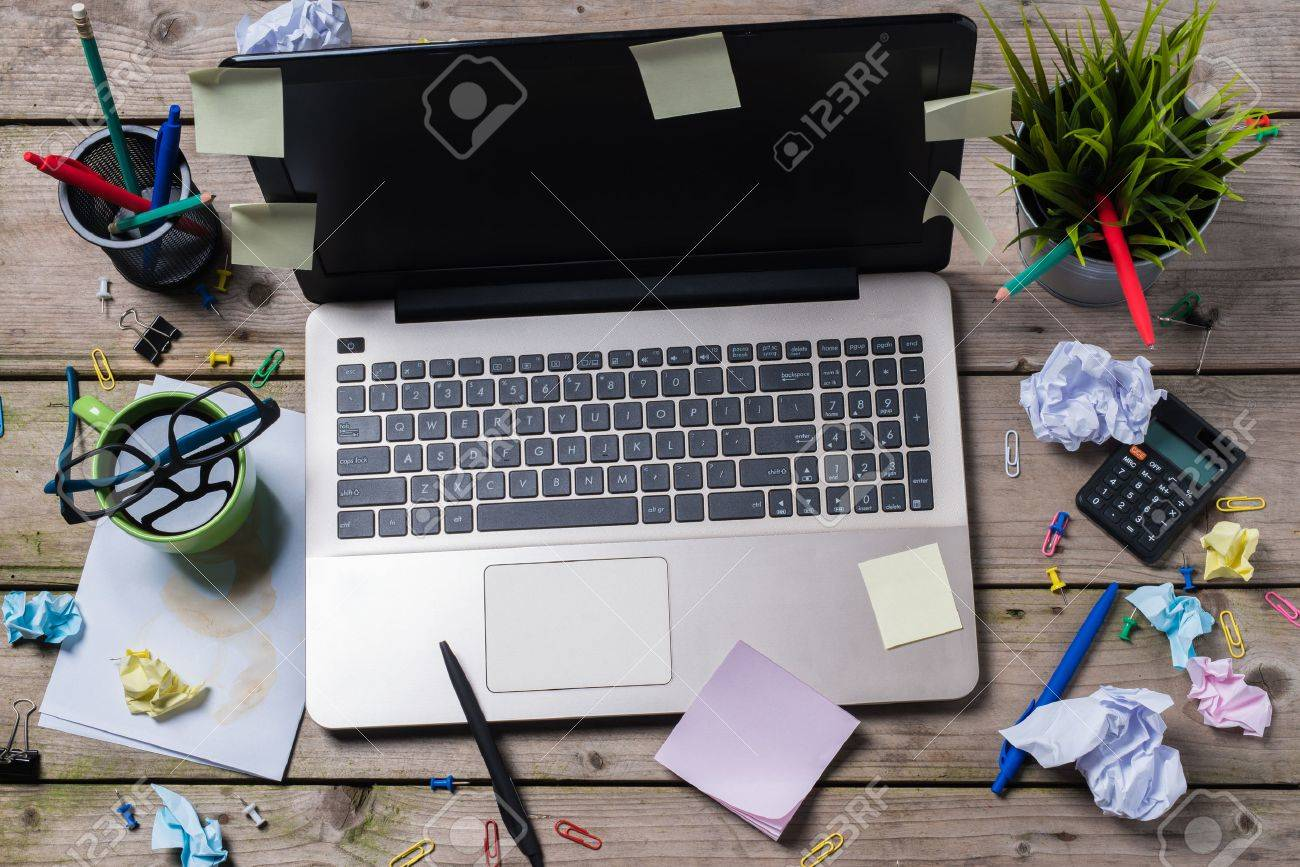 messy office pictures. Messy Office Desk Stock Photo - 59411447 Pictures