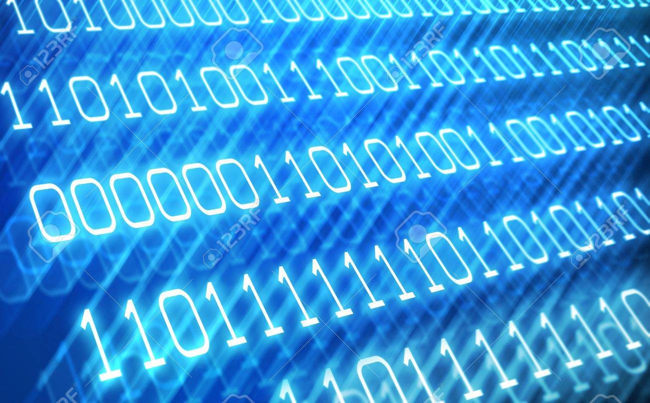 Abstract binary code background Stock Photo - 9544309