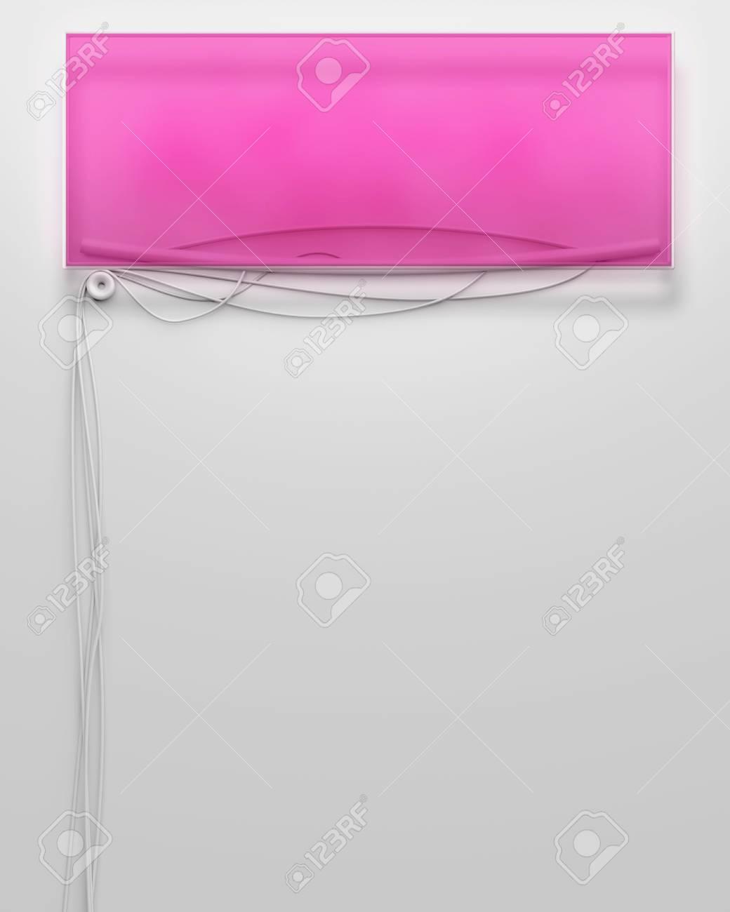 Cadre Vide enseigne de néon lumineux avec cadre vide et atelier banque d'images