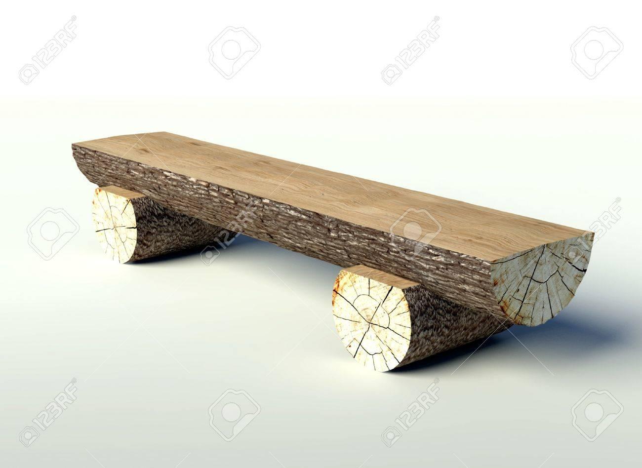 Holzbank Aus Baumstämmen, Objekt Lizenzfreie Fotos, Bilder Und Stock ...