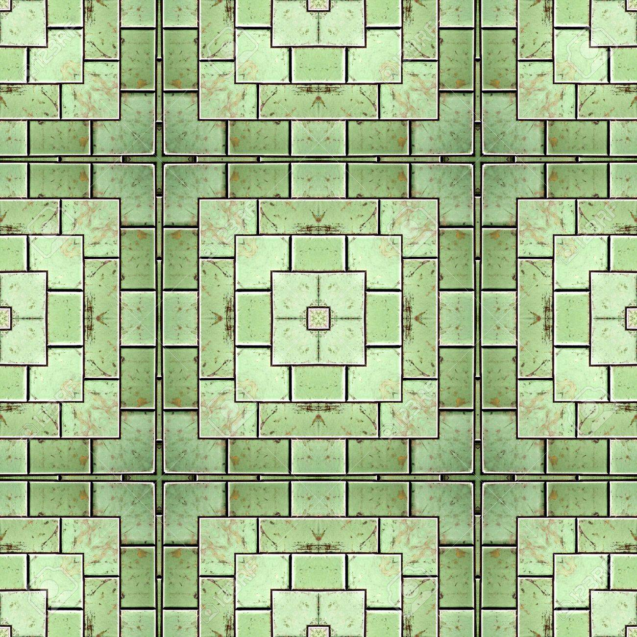 Seamless Ceramic Pattern, Aged Floor Tiles To Use As Wallpaper, Surface  Texture, Web