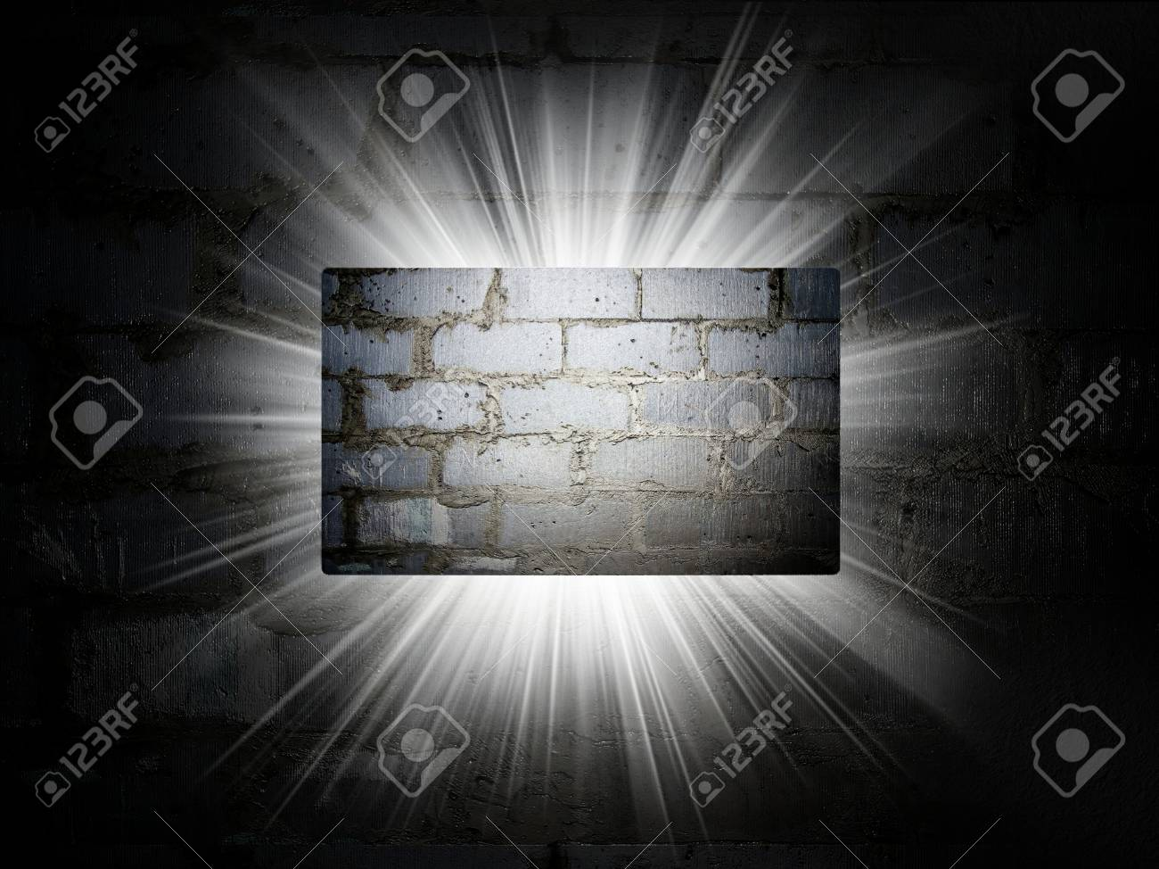 Texture De Briques Carte Visite Prsentation 3d Banque D