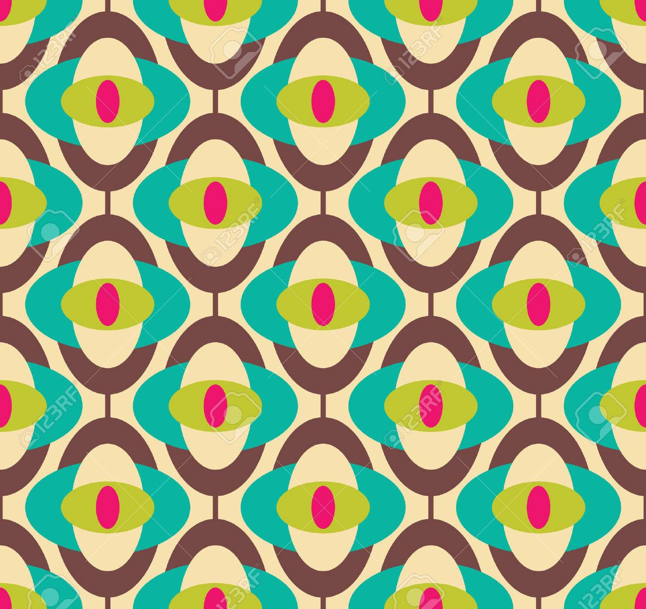 Seamless Geometrique Papier Peint Vintage Illustration Vectorielle