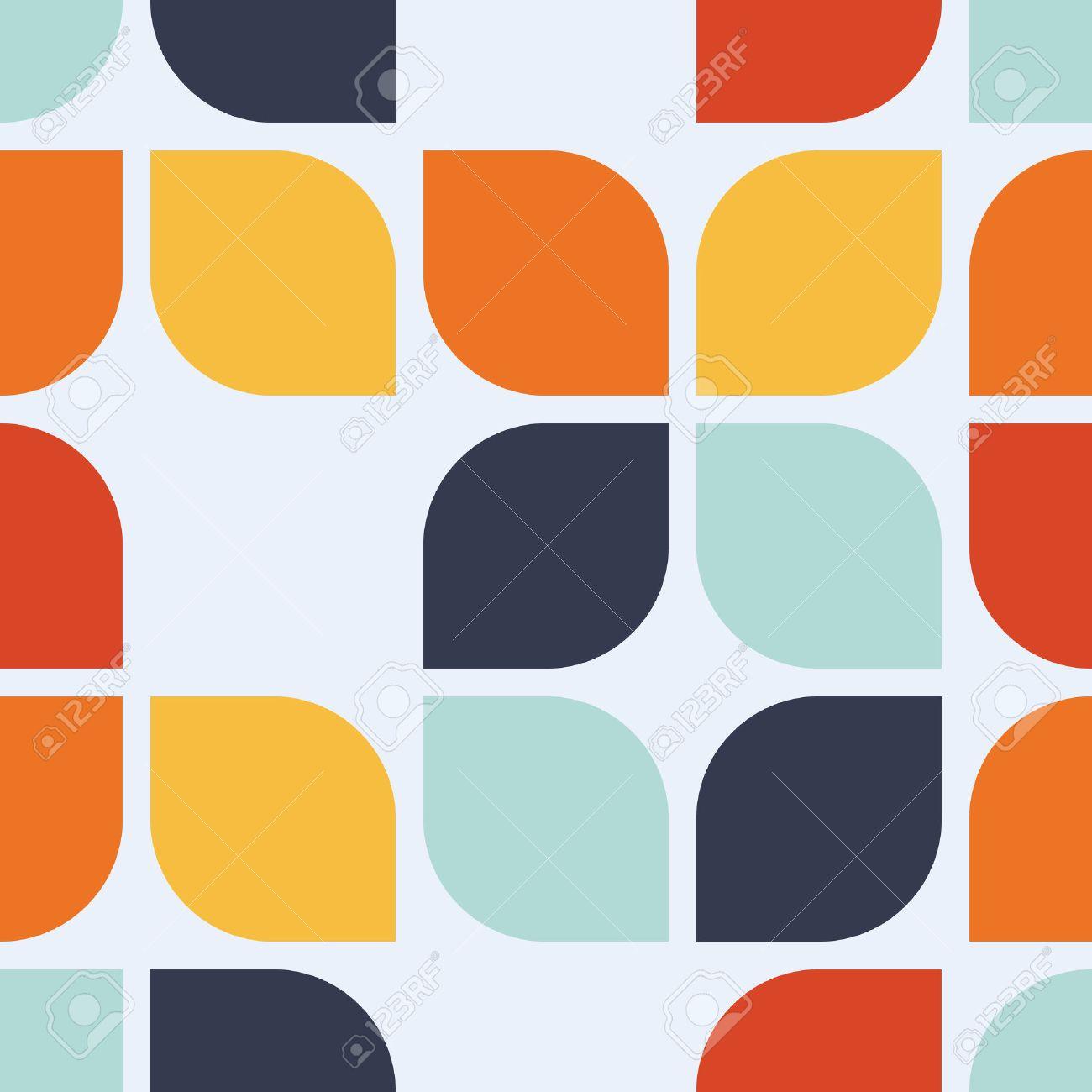 Seamless geometric vintage wallpaper, vector illustration Stock Vector - 42062714