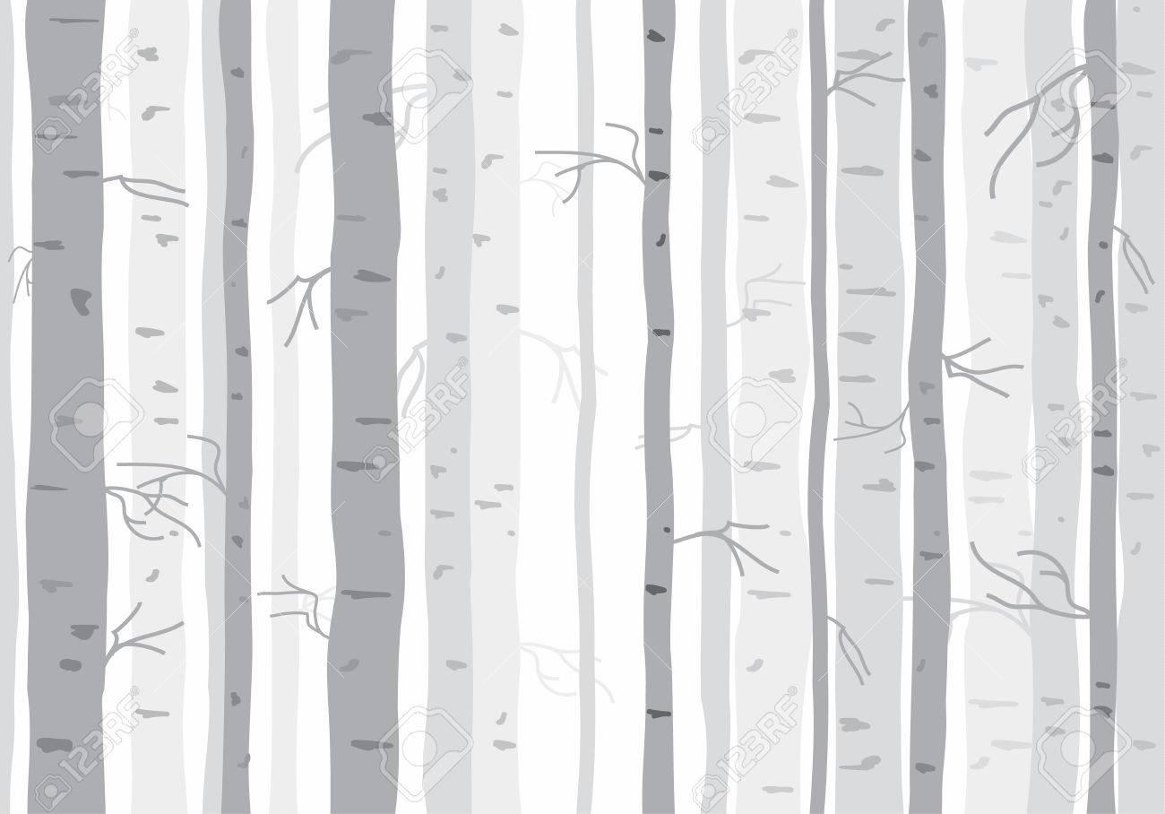 Seamless tree wallpaper trees pattern - 42796687