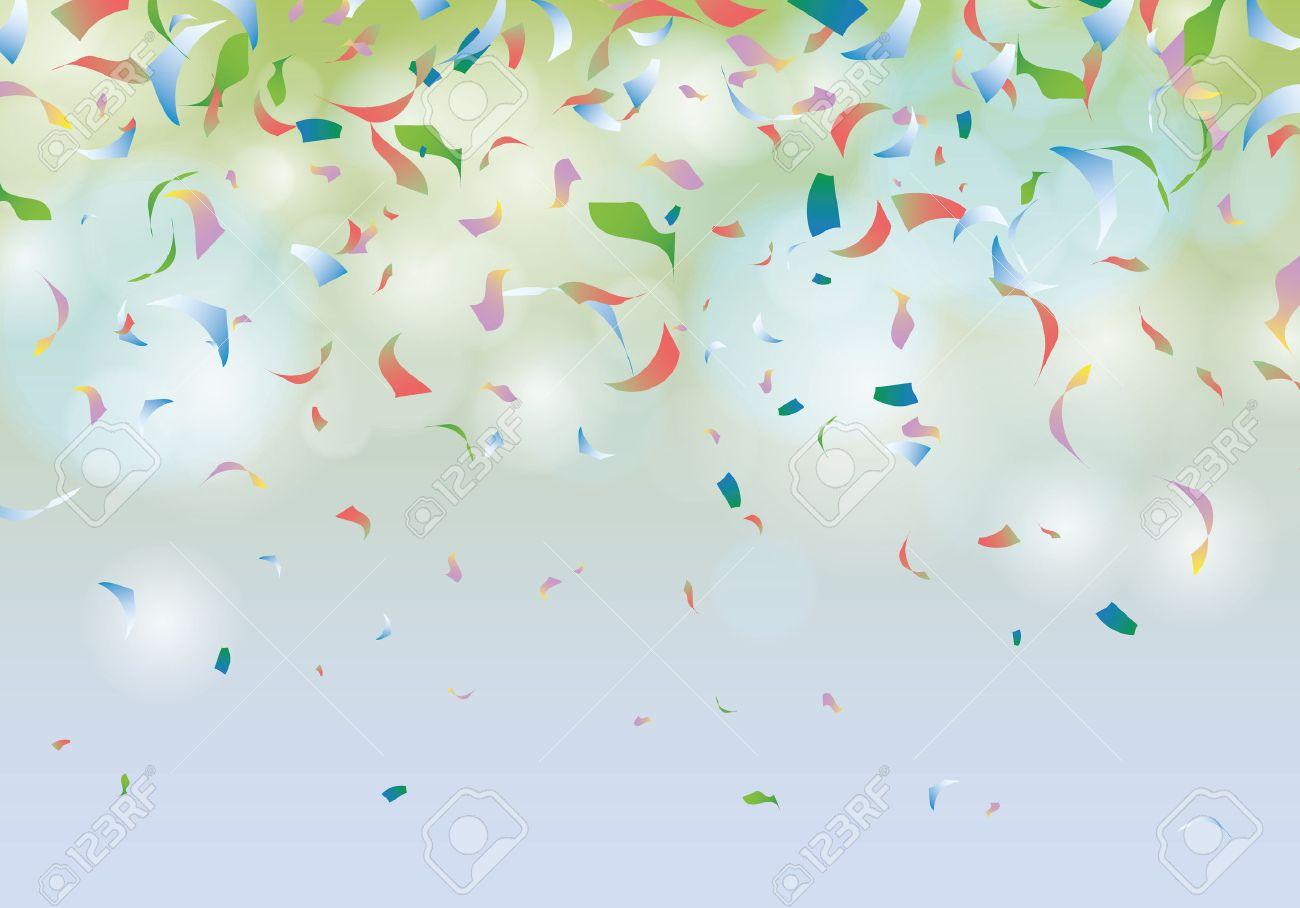 Confetti party background carnival illustration - 42798164