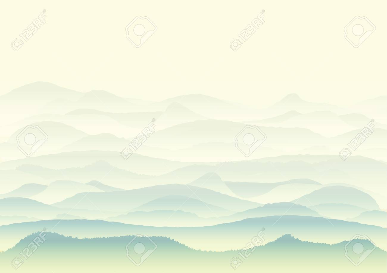 Vector Landscape With Mountains Background Or Wallpaper Design