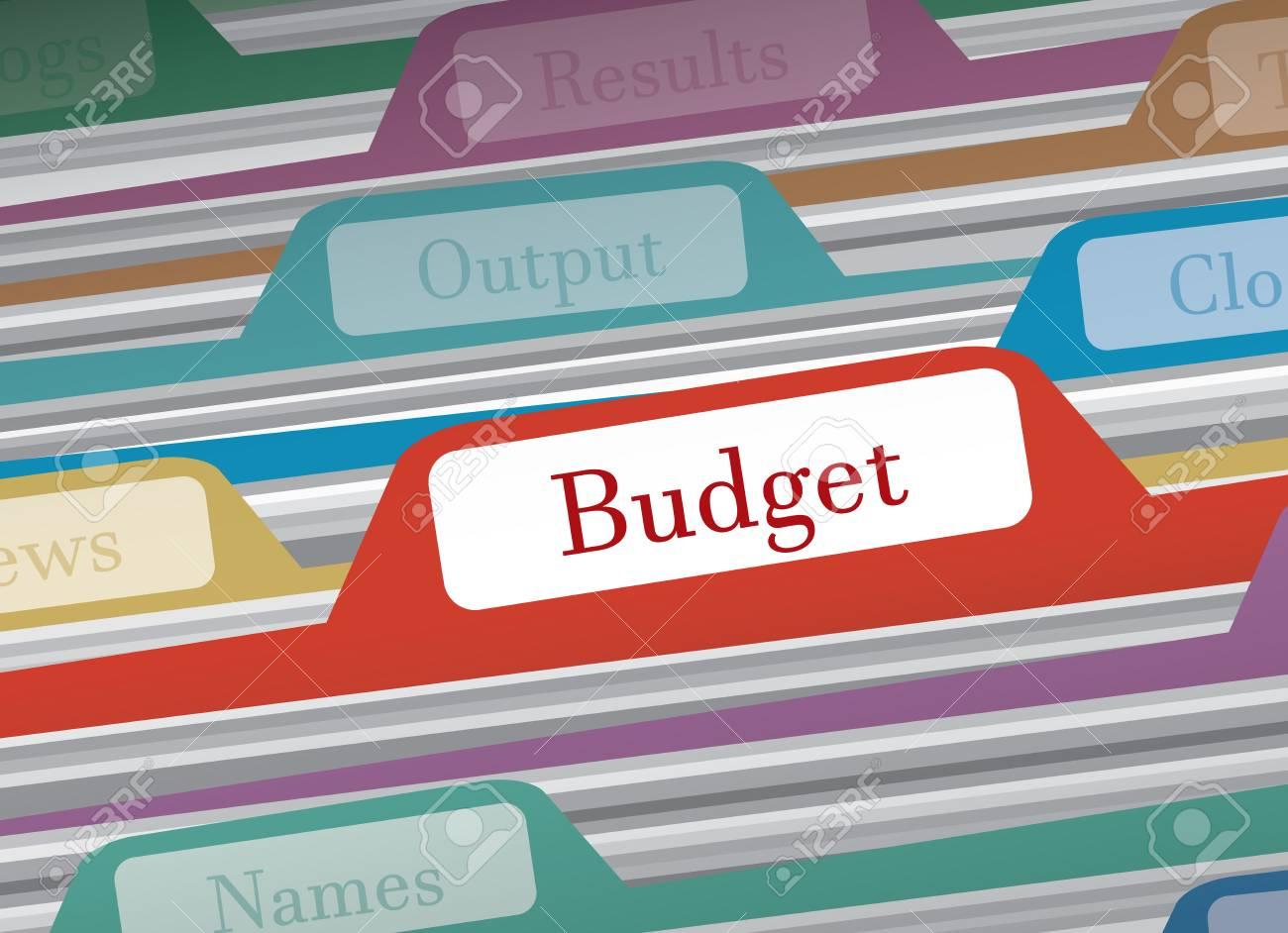 carpeta de presupuesto en finanzas personales de carpetas de archivo