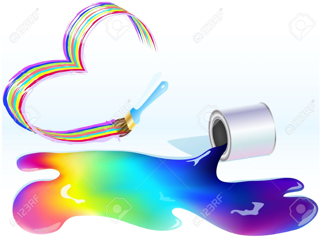 spilled paint can clipart. multicolored paint spilled from a can stock vector 10393397 clipart l