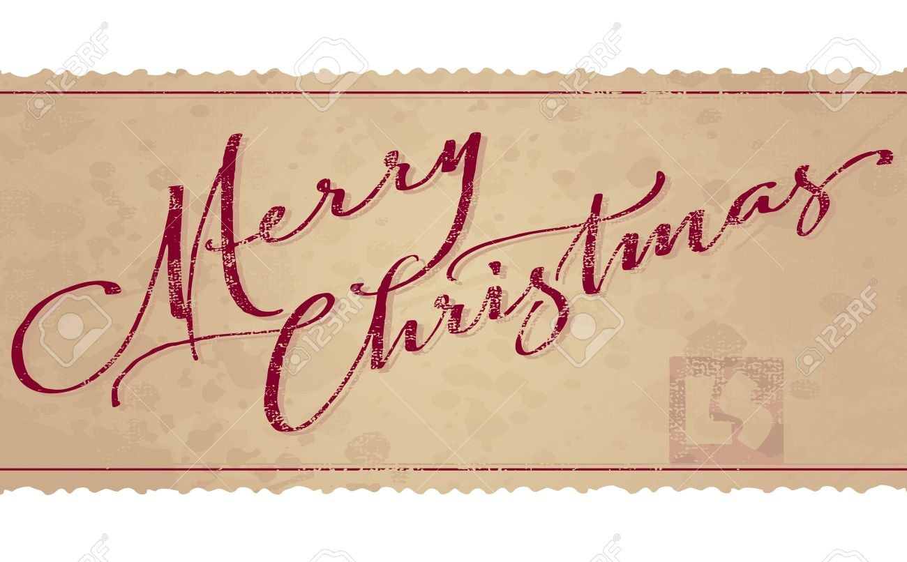 Merry Christmas hand lettering (vector) Stock Vector - 11272886