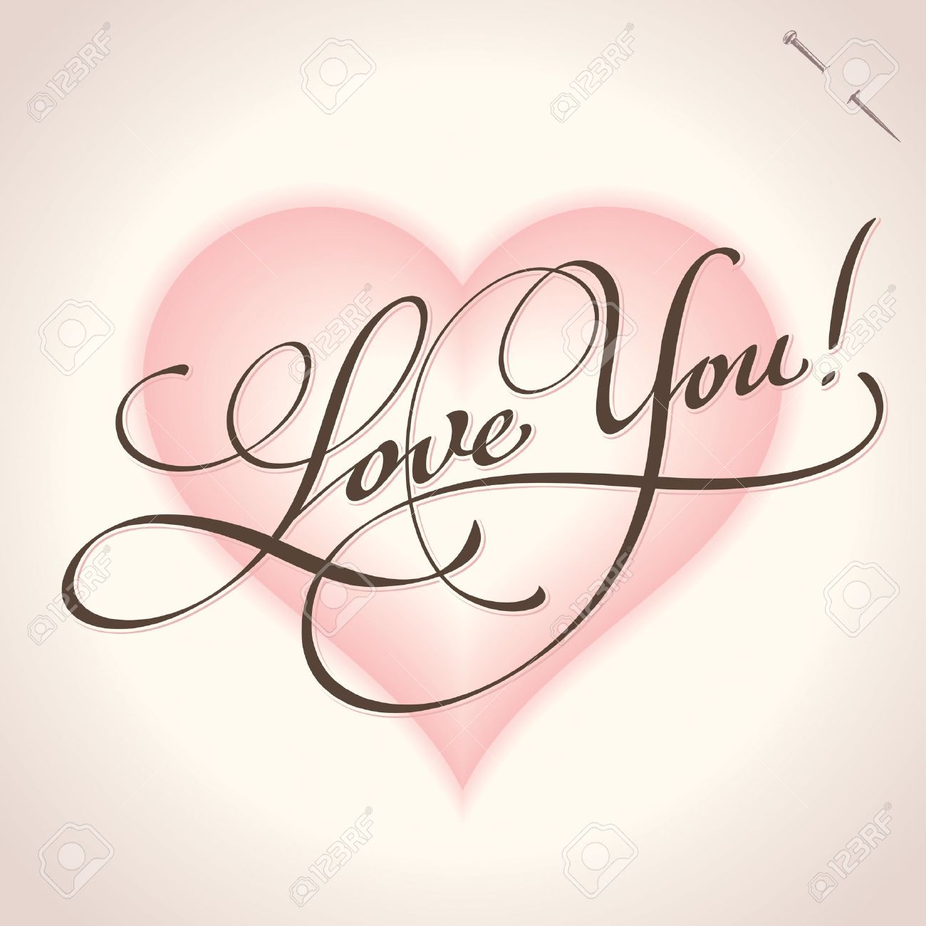 love you hand lettering (vector) Stock Vector - 11977299