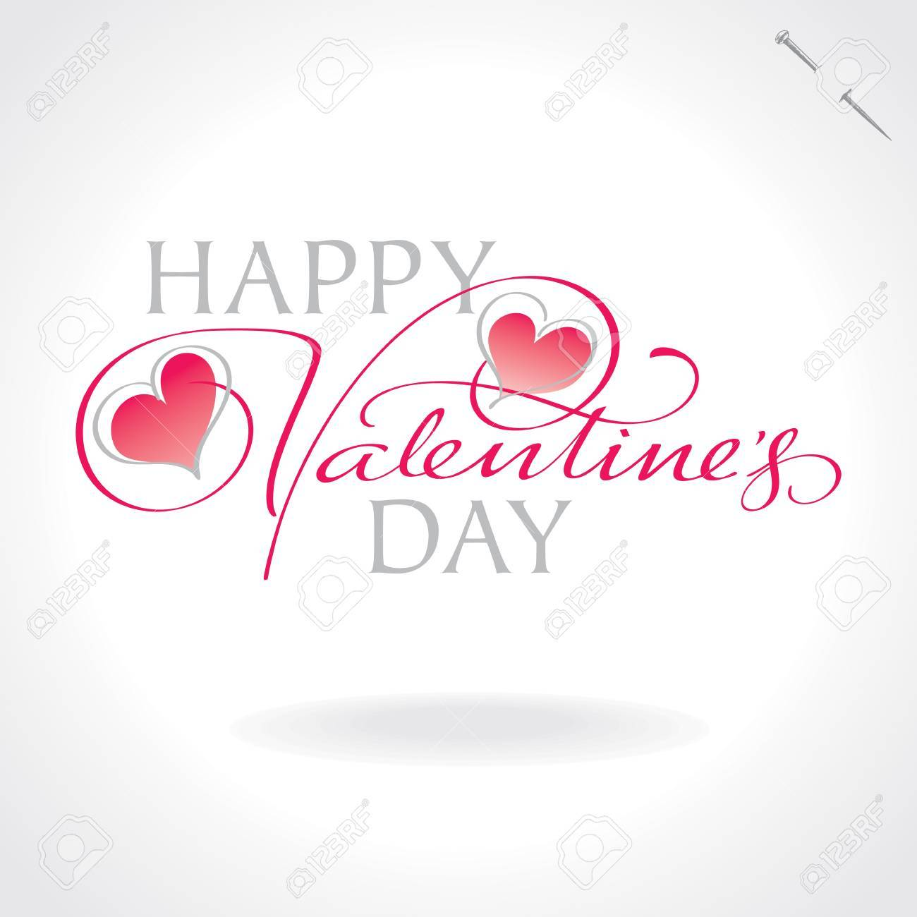 valentines hand lettering (vector) Stock Vector - 11977298