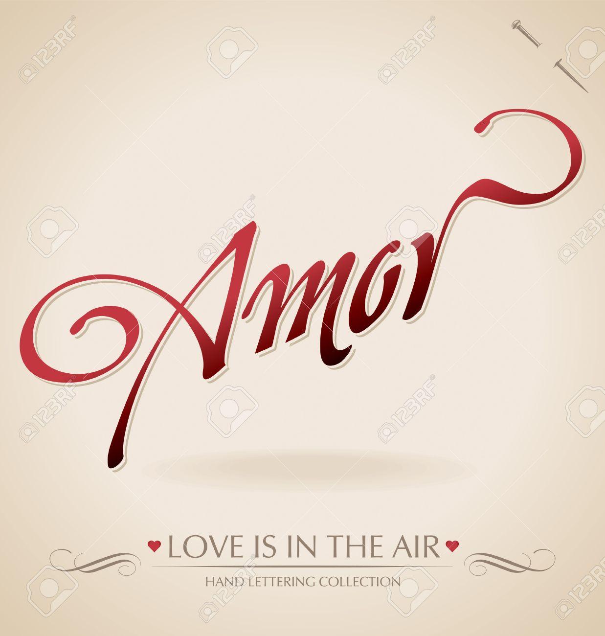 amor hand lettering (vector) Stock Vector - 11977308