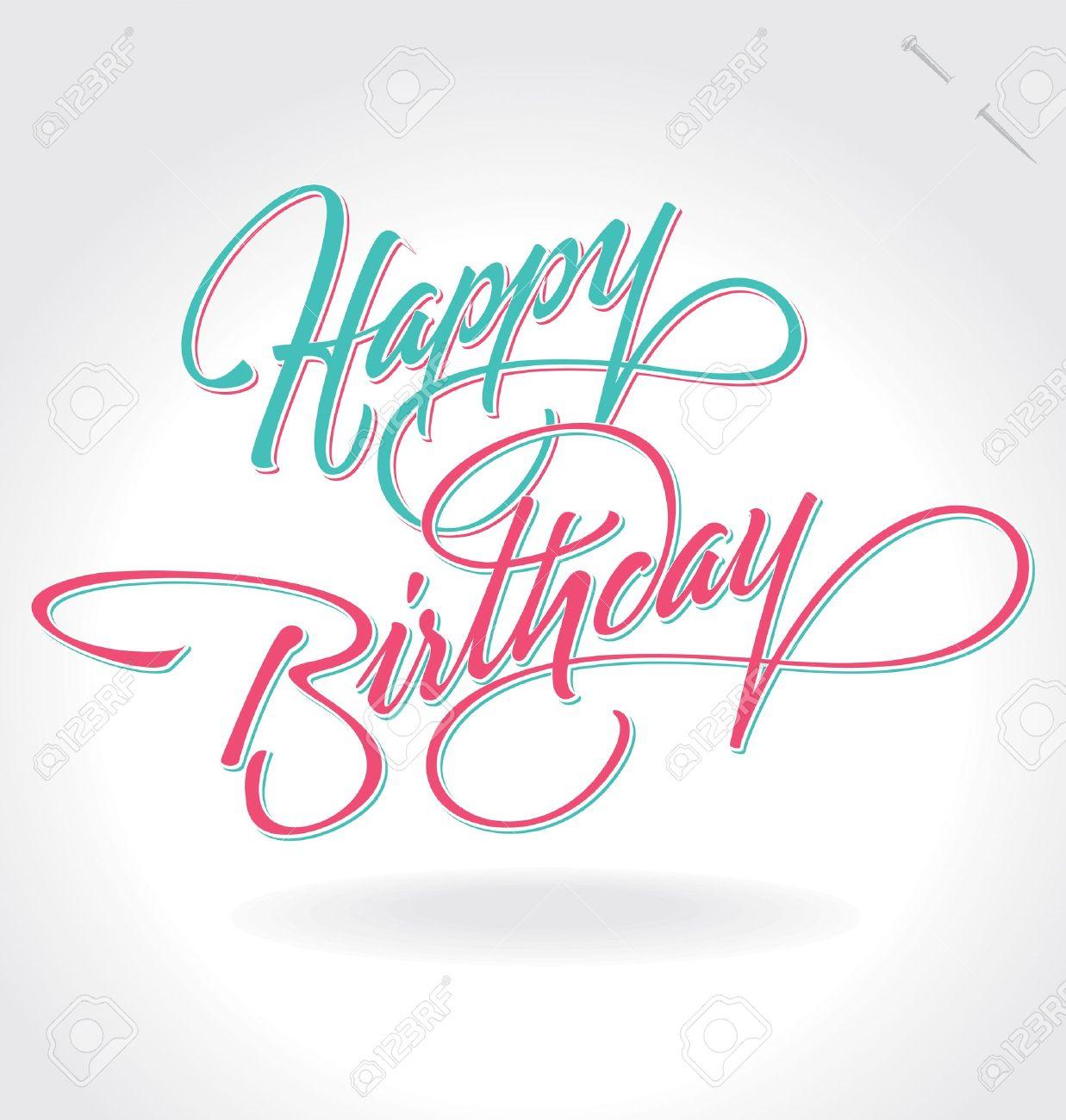 happy birthday hand lettering (vector) Stock Vector - 15200952