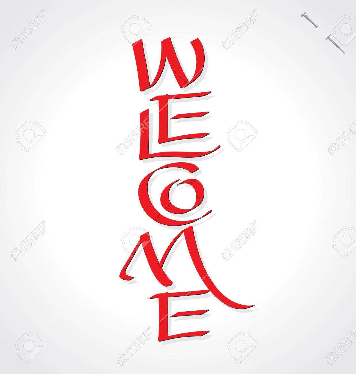 Welcome hand lettering Stock Vector - 15164370