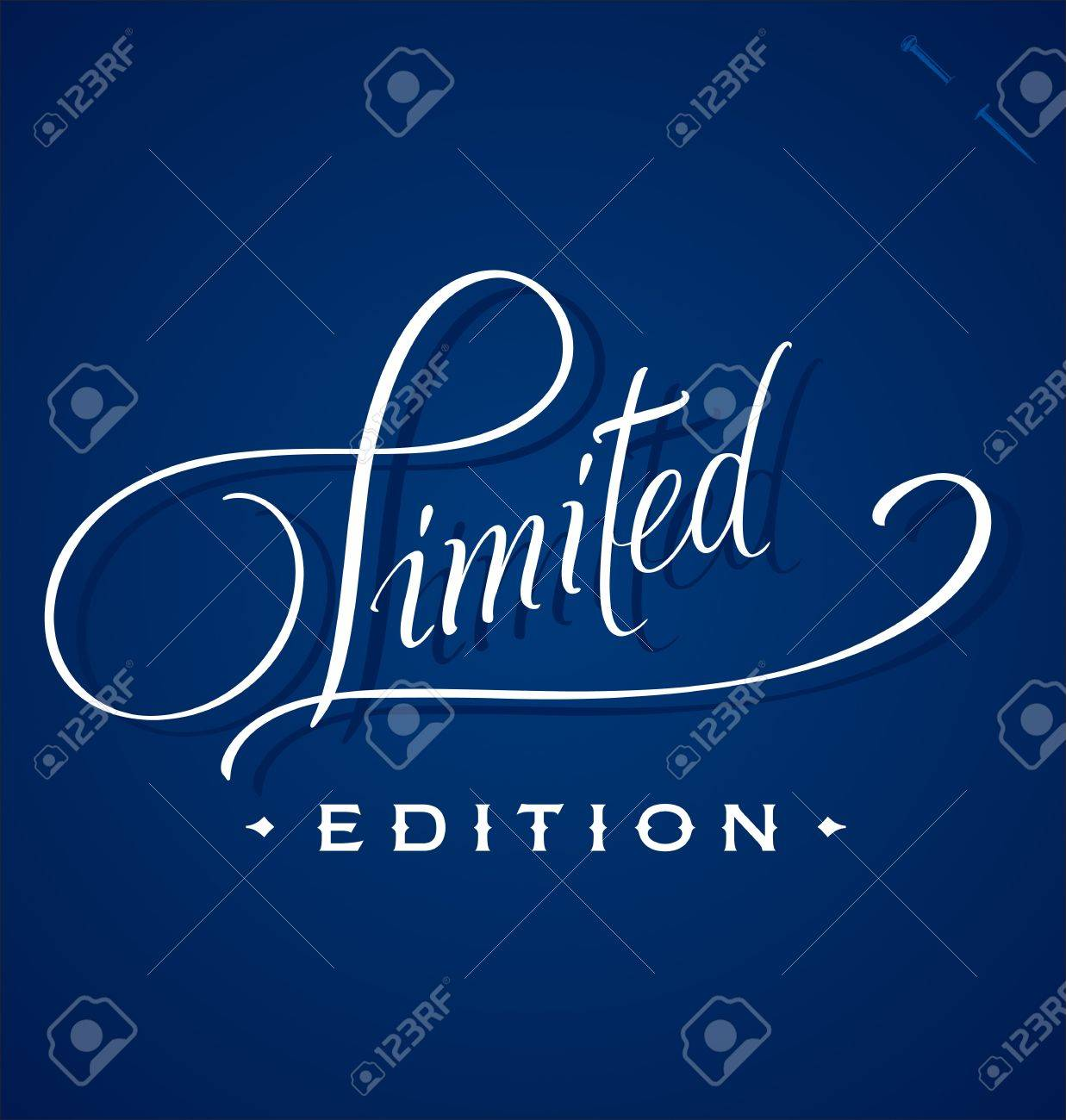 LIMITED hand lettering (vector) Stock Vector - 15329915