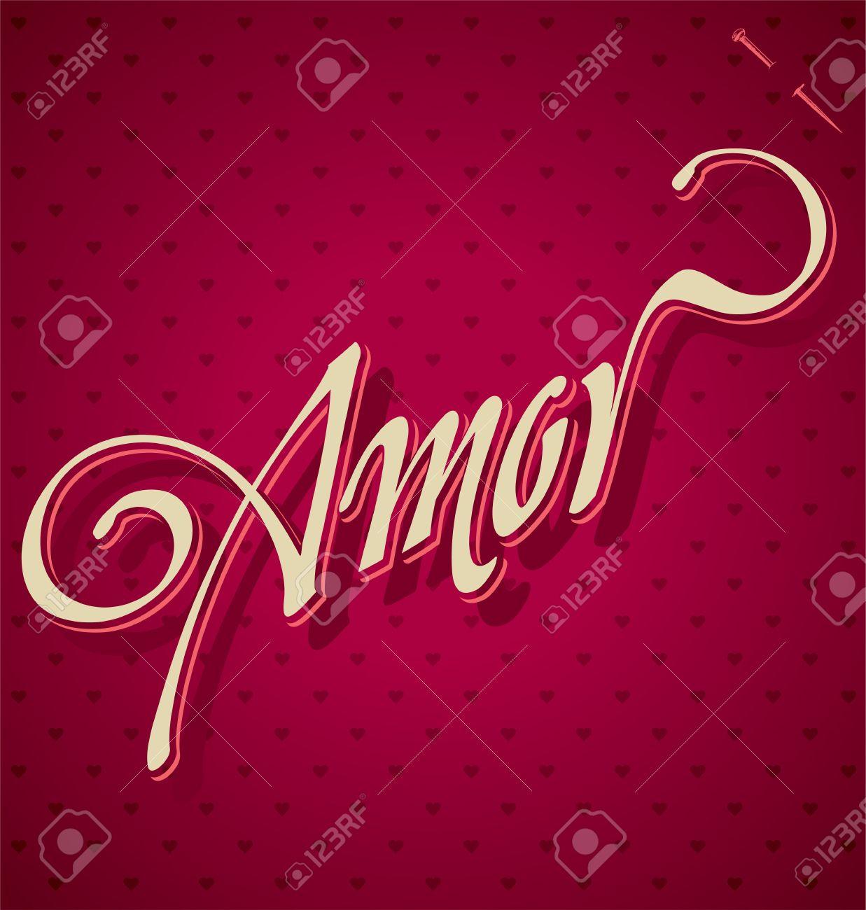 AMOR hand lettering  vector Stock Vector - 17584124