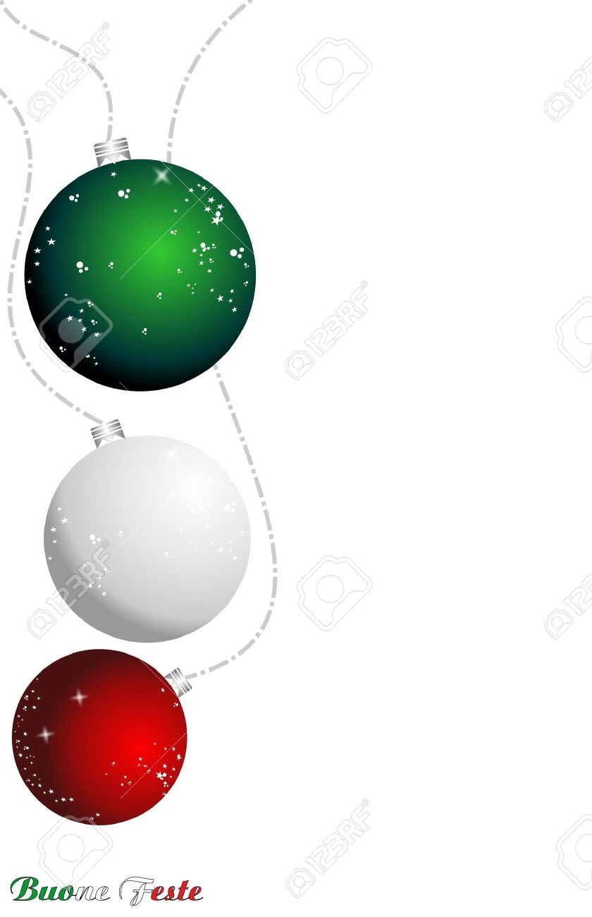 christmas italian background, ball flag Stock Vector - 9933657
