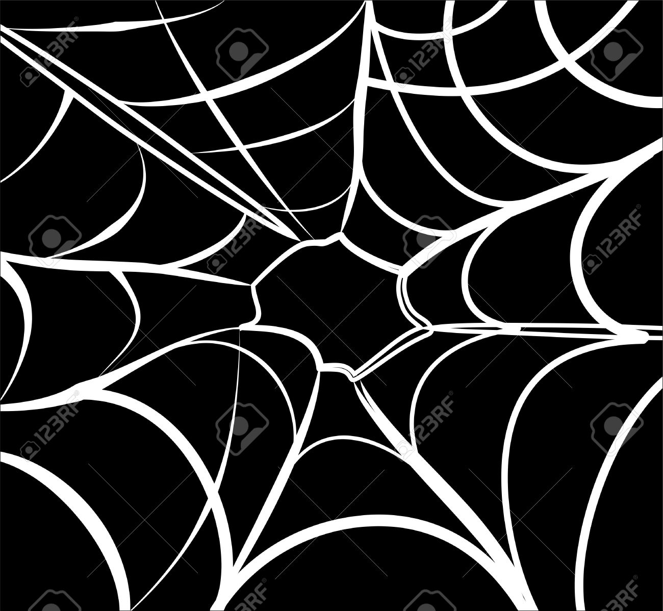 spider web background black and white Stock Vector - 9999081