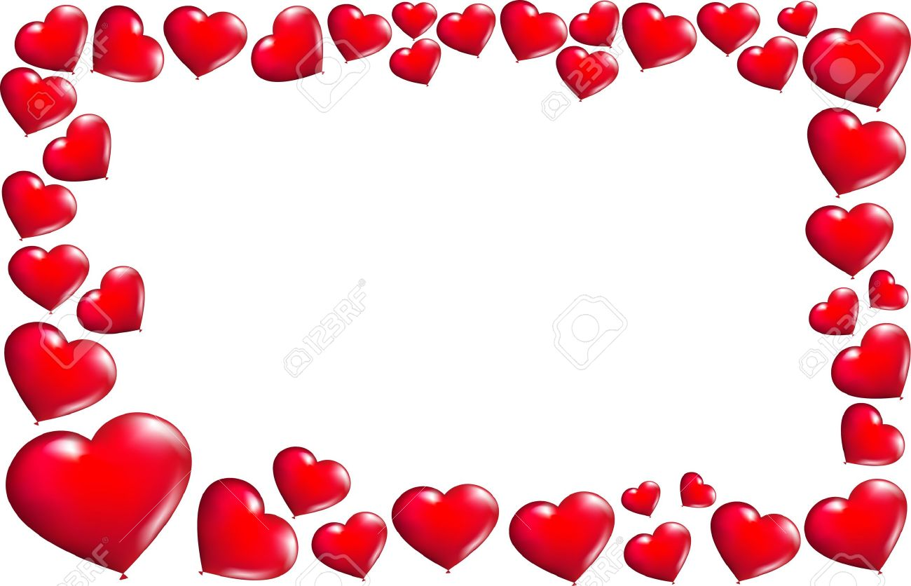 Frame With Heart-shaped Balloons Royalty Free Cliparts, Vectors, And ...
