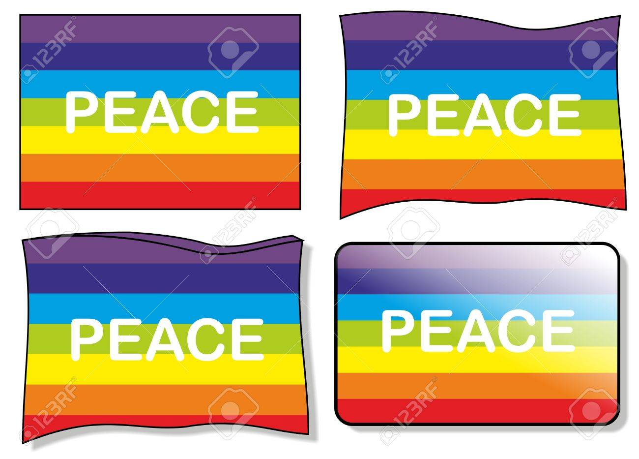 peace flag, vector Stock Vector - 10121136