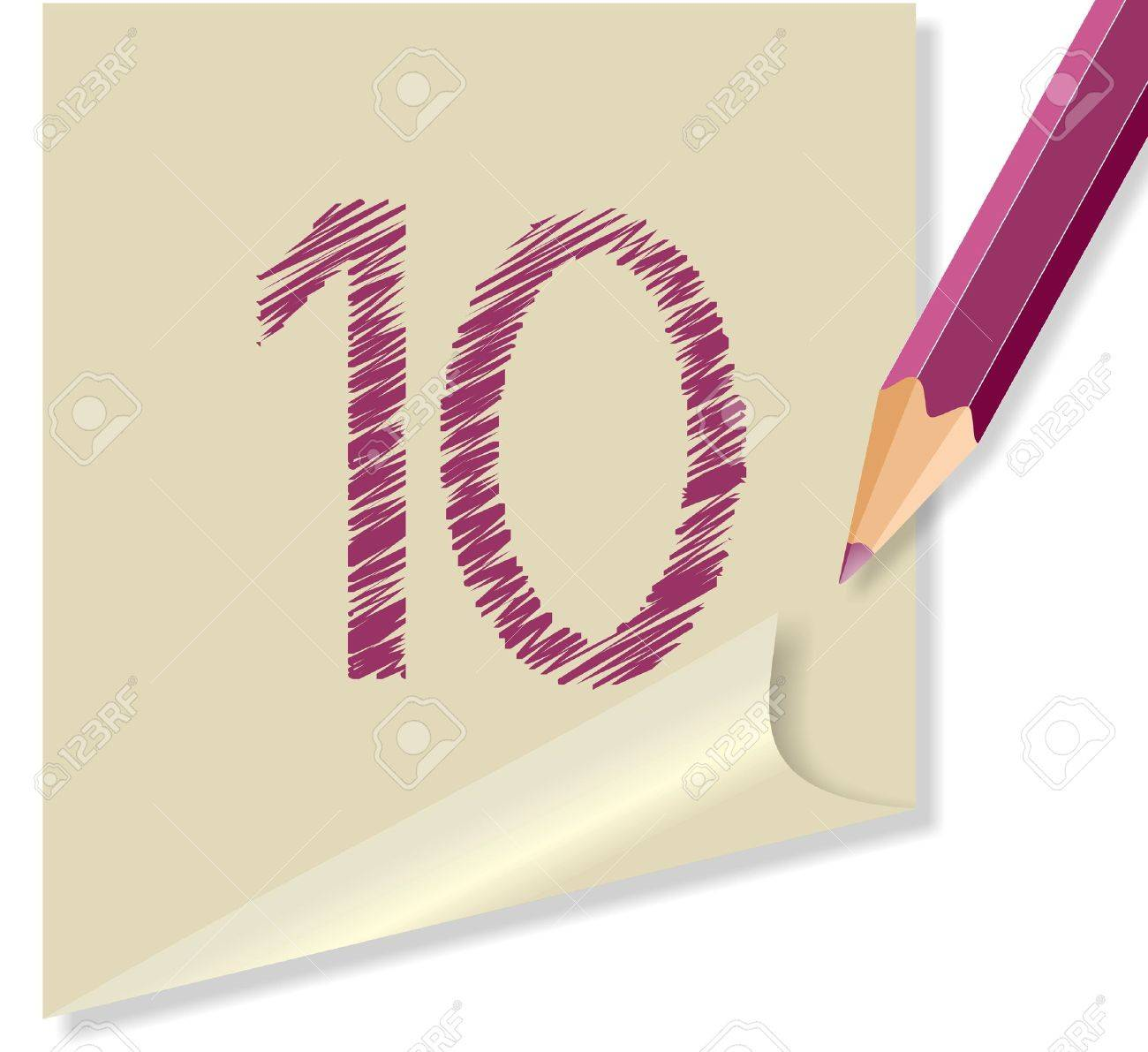 message with the number 10 Stock Vector - 10509106