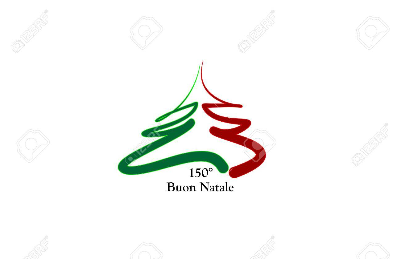 merry christmas L'Italia, 150 anni Stock Vector - 10628872