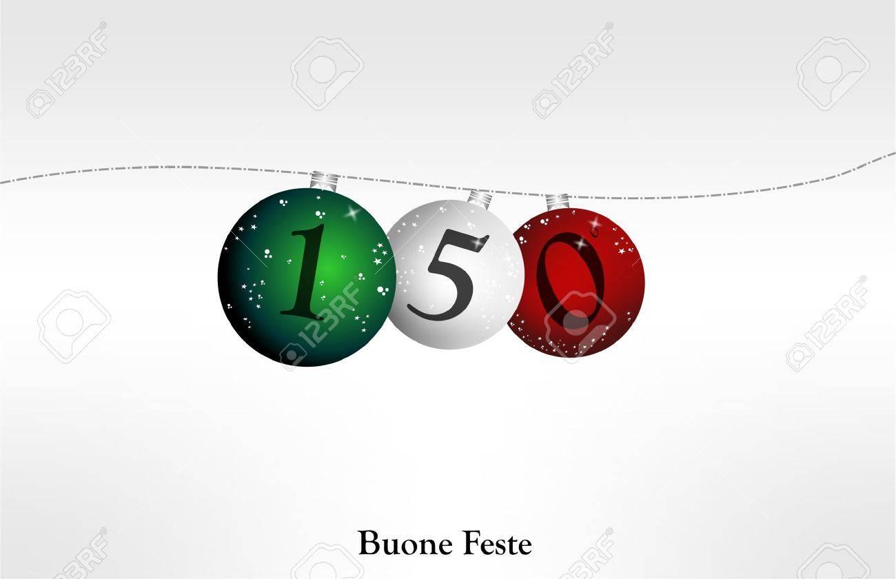 merry christmas L'Italia, 150 anni Stock Vector - 10628868