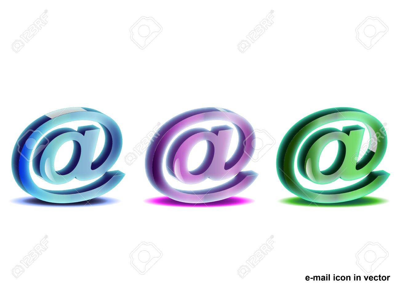 email icon Stock Vector - 10747249